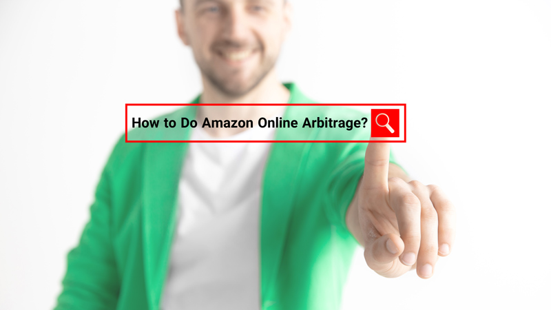 a man searching how to do amazon online arbitrage on the internet