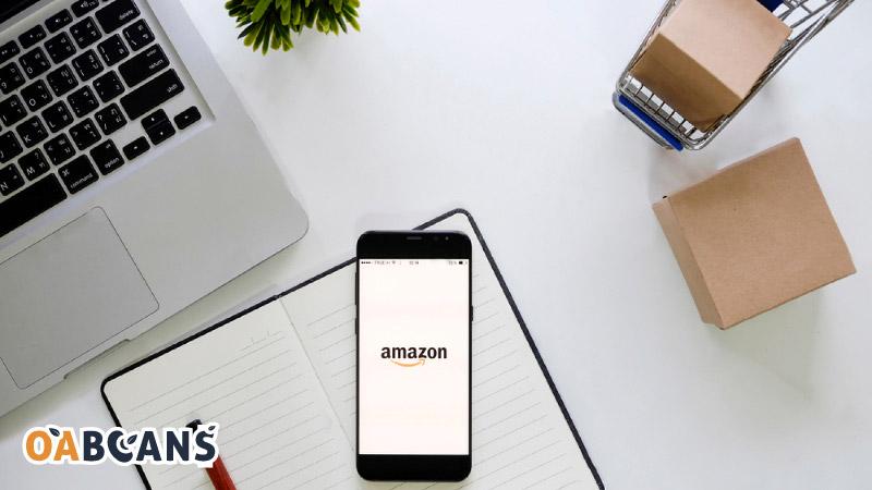 Amazon logo on  mobile display