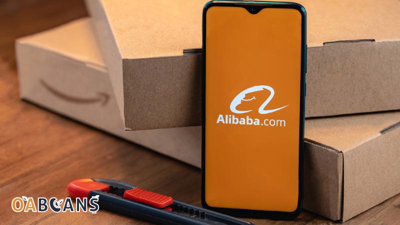 Alibaba Logo on Mobile Screen