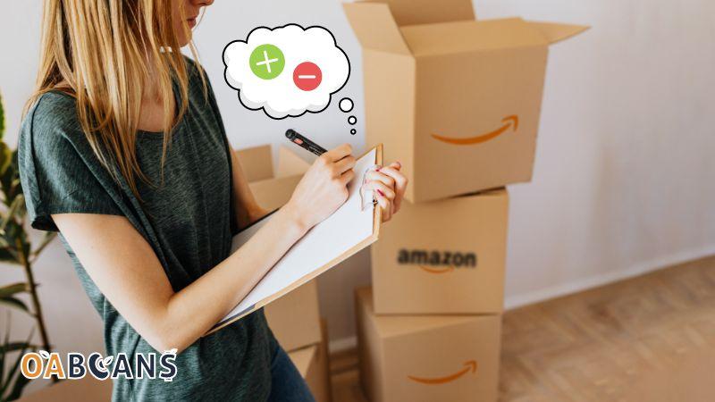 Woman is doing Amazon fba inspection